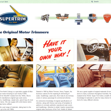 Supertrim Coburg  – eCommerce site