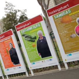 Department of Housing: Food Week Bill Boards and Posters for the City of Yarra, in Fitzroy and Richmond.