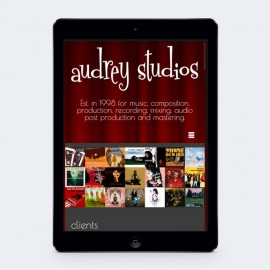 Audrey Studios WordPress Website