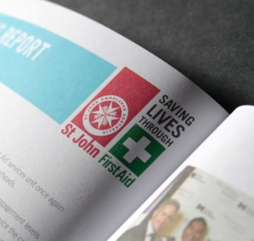 annual report with logo design