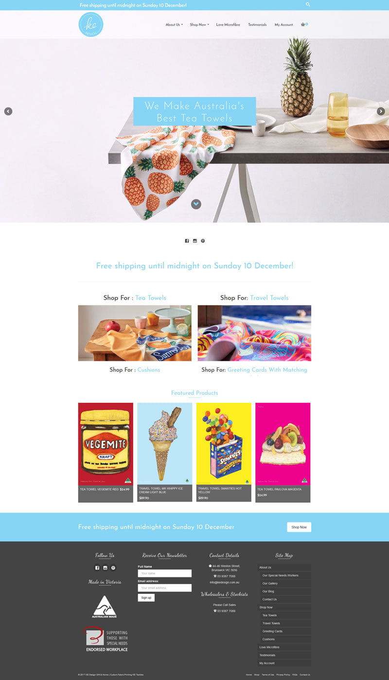Kedesign home page larkscapes gwd for Home shopping websites