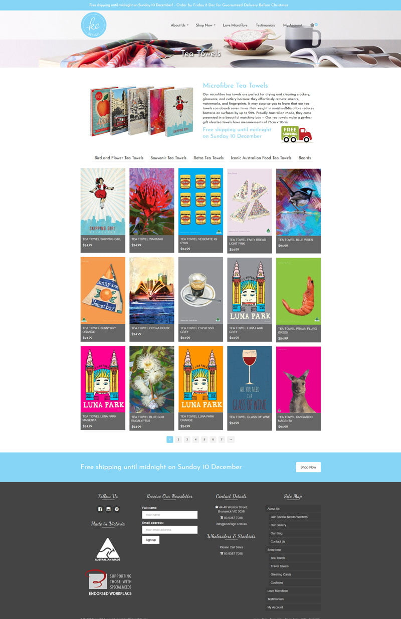 Kedesign sales page larkscapes gwd for Website design for online shopping