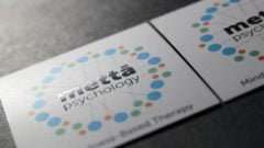 square business card with uv spot
