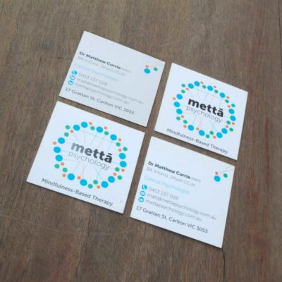 square business card with uv