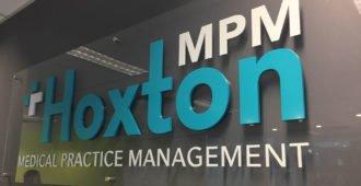 acrylic signage for hoxton